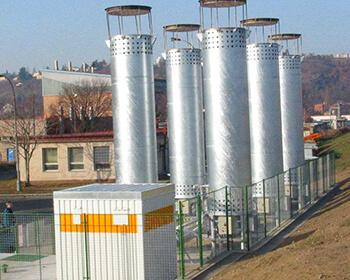 Draining biogas